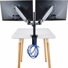 Dual Monitor Mounts Monitor Arms Stand Support, Full Motion Swivel gas spring for 17''-27'' LCD Computer vesa Monitor