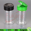 supply 125ml empty plastic table salt and pepper containers for spice with shaker cap