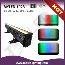 Professional 18*4in1 RGBW DMX LED Pixel Bar Light Building Wash with CE&RoSH