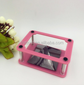 New models pink color Stainless 3d display showcase for 3D pyramid hologram display box