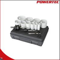 POWERTEC 14PC Bi-Metal Round Hole Saw Set Power Coated