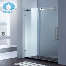 Glass shower partition for bathroom