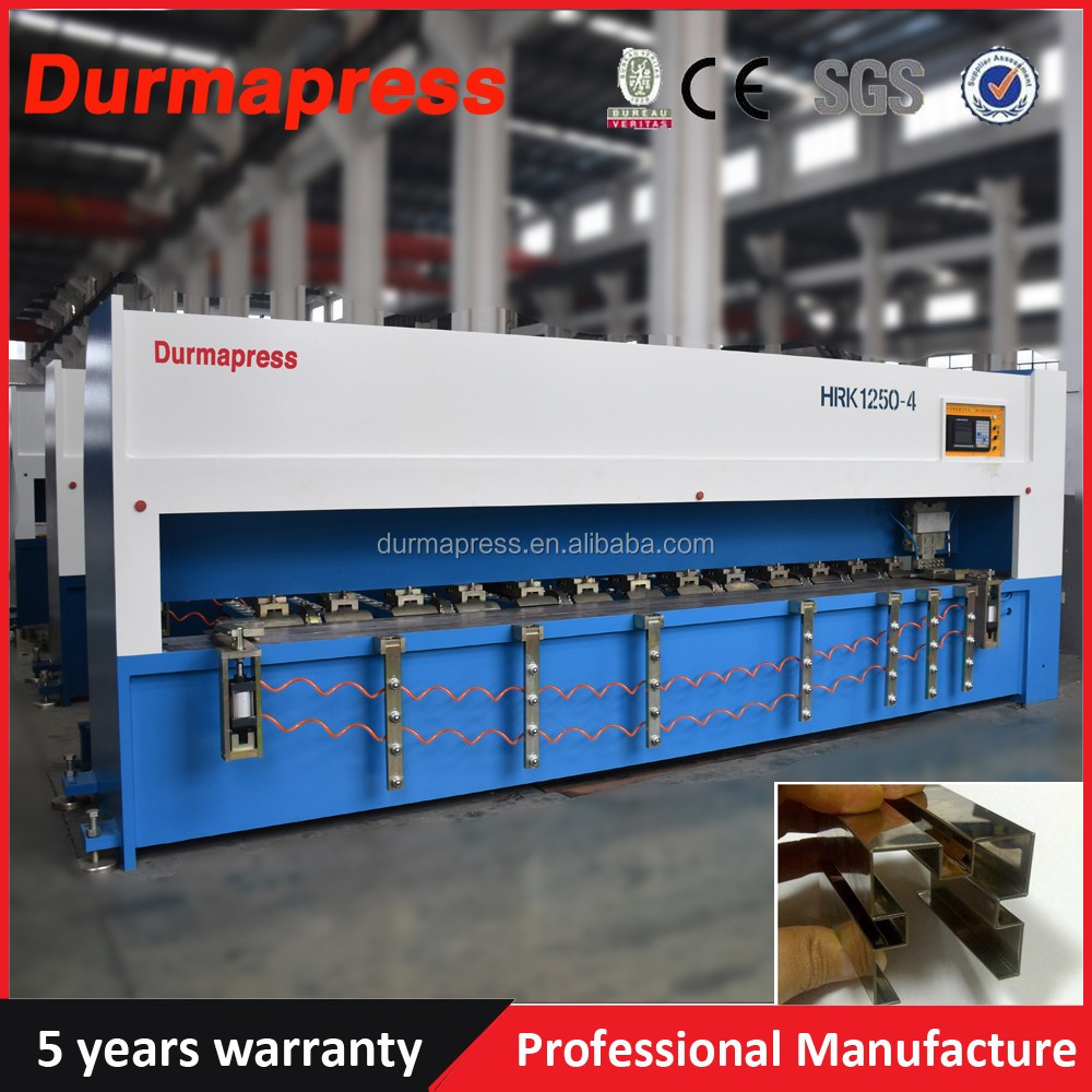 Durmapress brand 4 meters stainless steel cnc sheet metal grooving machine, V piercing machine for cabients doors, Elevator