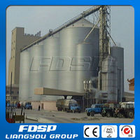 500t - 1000t steel silo bins , steel silo storage system used for feed mill plant