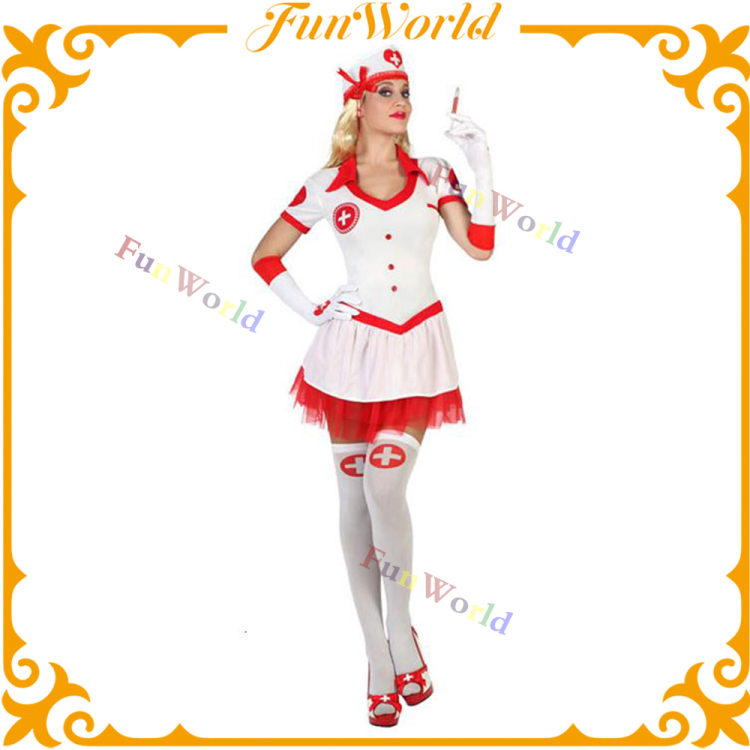 Factory hot sales adult sexy milk maid costume