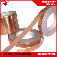Copper tape Poleyster silicone coated transparent film roll