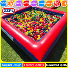 ZZPL indoor inflatable ball pond for kids/ mini inflatable kids pool with ball pits
