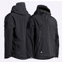 men breathable military water repellant sharkskin softshell jacket
