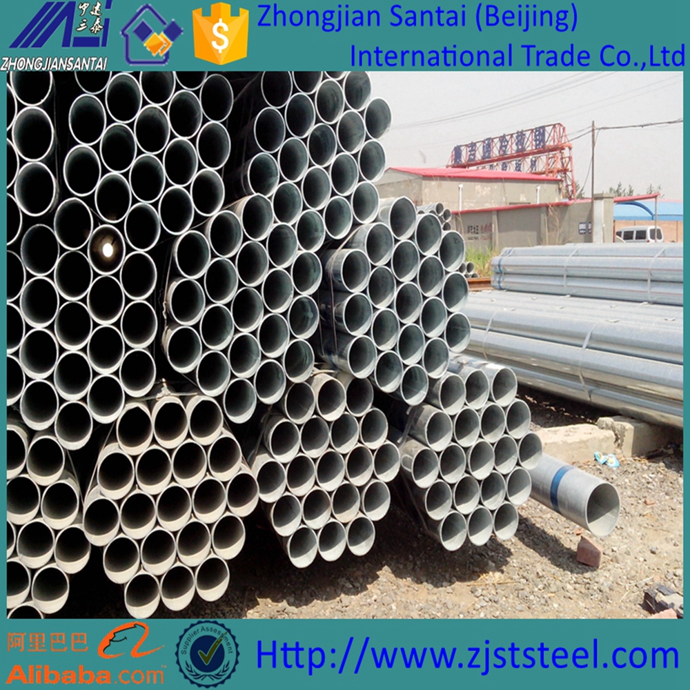 Schedule 40 45 60 galvanized steel pipes for building materials