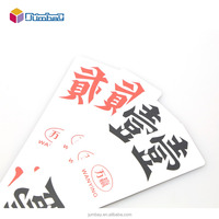 100% plastic mahjong cards game card playing cards