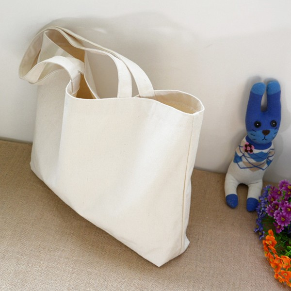 promotional eco-friendly cotton canvas fabric shopping tote bag
