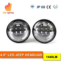 12V car white front fog lamp with DRL daytime running light 30w 4.5inch led fog light