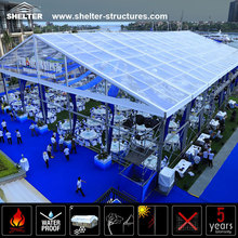 1000 People Outdoor Royal Transparent Party Wedding Marquee Tents With Durable Aluminum Alloy Frame For Sale