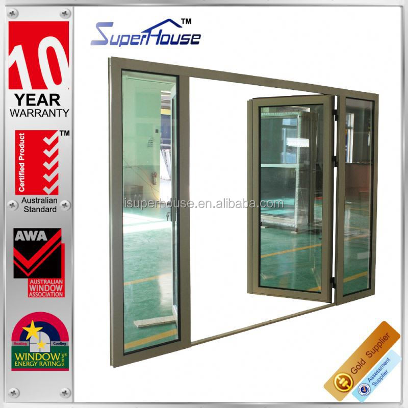 hot sale As2208 standard water penetration aluminium alloy hinge glass door