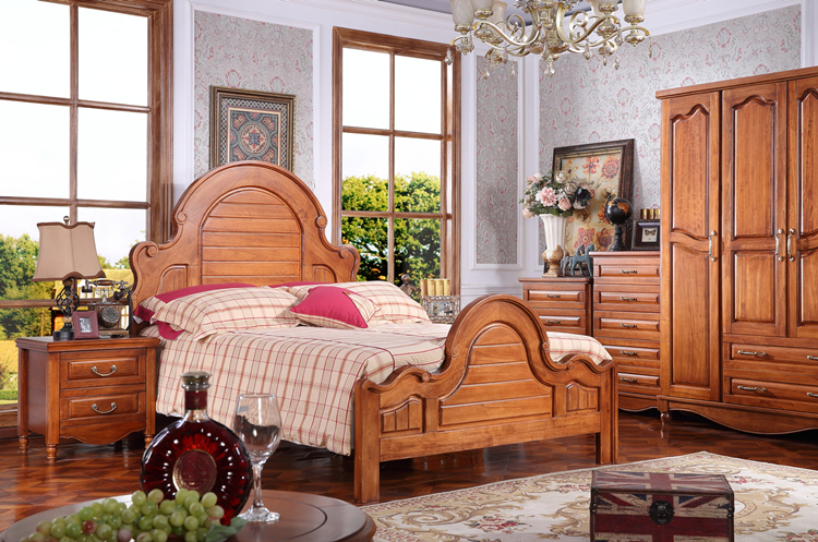 American country bedroom furniture 1.2/ 1.35 M size quality youth kids wooden bed frames