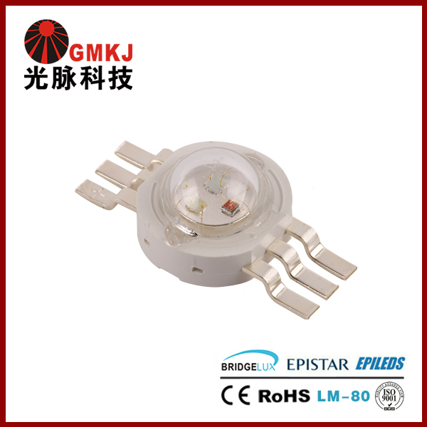 Output Bright Epileds 3W RGB LED Chip 5 Years Warranty