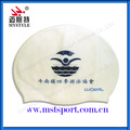 customize adult swimming cap logo print OEM