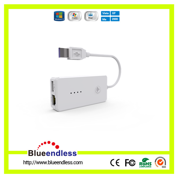 New Design Wifi Wireless Smart Card Reader for iPhone Android Phone Windows PC Support 128GB TF Card