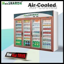 Professional cold showcase display refrigerators for supermarket