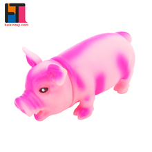 wholesale alibaba lovely soft vinyl cartoon pig chinese toy store with sound