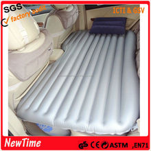 Comfortable plastic inflatable car air bed in car mattress