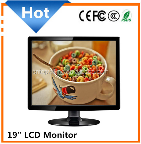 "Cheapest 19 inch LCD LED monitor for desktop with VGA 19"" LCD/LED tv monitor"