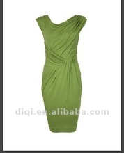 pure color fashion office dresses for mature ladies