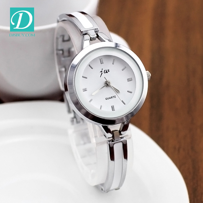 2016 New Luxury Watch Brand Silvery Jewelry Clasp Stainless Steel Ladies Watch