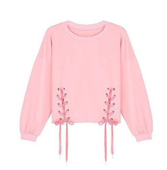 SHD11 bulk wholesale pink women hoodie hot fashion streetwear hoodie from China clothing manufacture