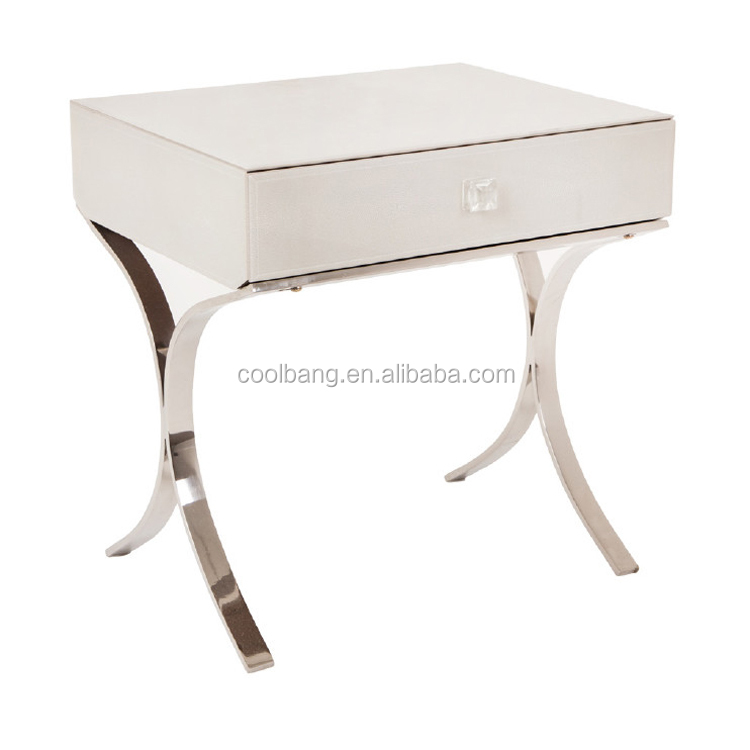 Antiqe venetian mirrored glass side nightstand corner table