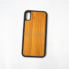 Bamboo wood phone case mobile phone back cover TPU case for i8