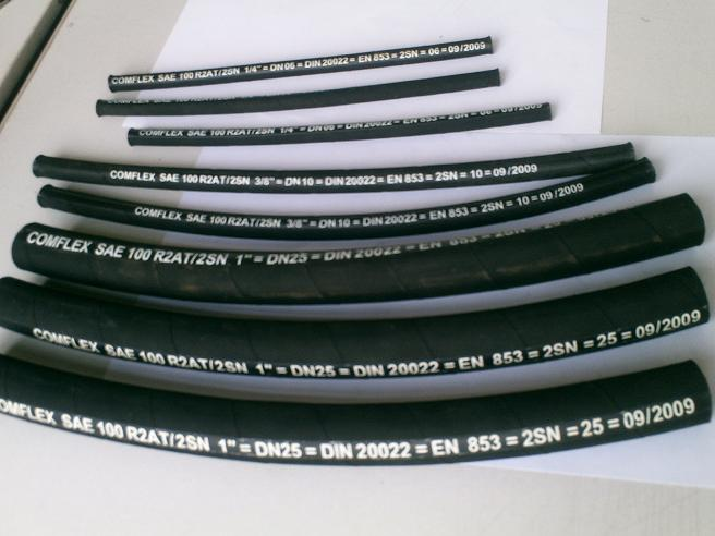 SAE/DIN1/4''-4'' wire barided flexible hydraulic rubber hose