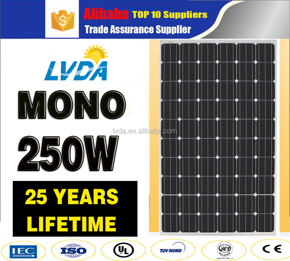LVDA best price monocrystalline pv solar panel 250W 260W dropship in dubai