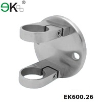 Stainless steel fence post mounting brackets for round Post