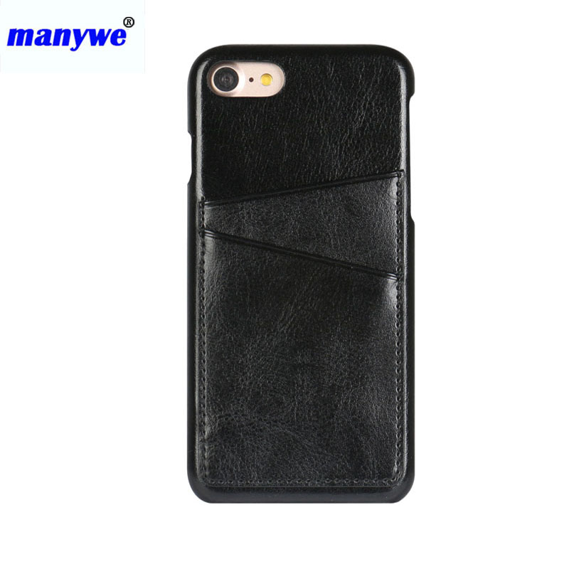 High quality Mobile cell phone PU leather Skin hard case with credit card holder
