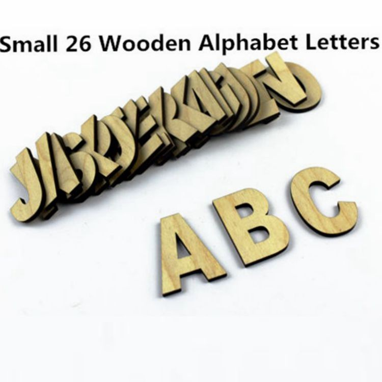 Small 26 Wooden Alphabet Letters