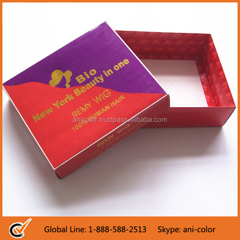 Qingdao Hair Extension Packaging Box