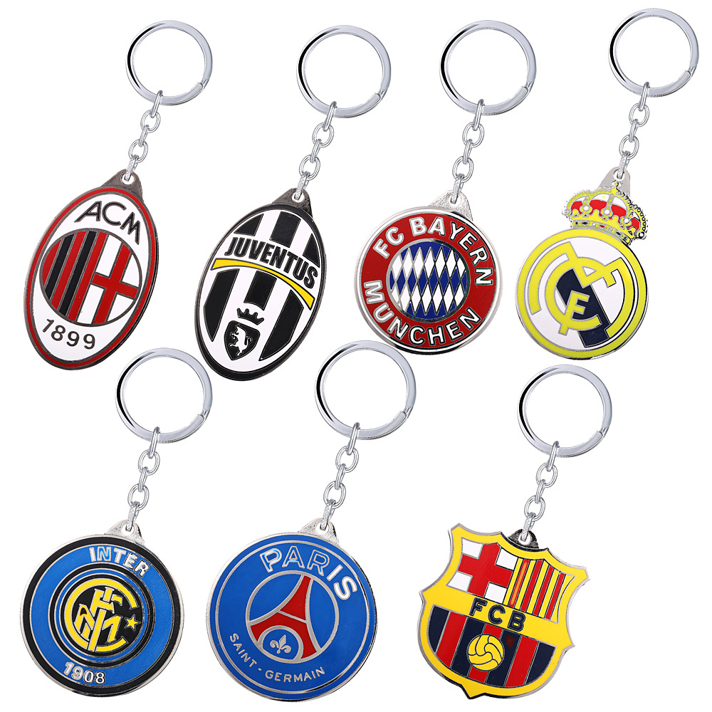 New hot fashion soccer keychain Five leagues in Europe's top club football championship LOGO keychain fan favorite jewelry gift