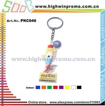 Cute Design Customized 2d/3d Soft Pvc Key chain