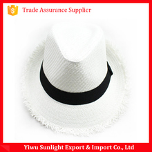 Popular design straw hat frayed edges