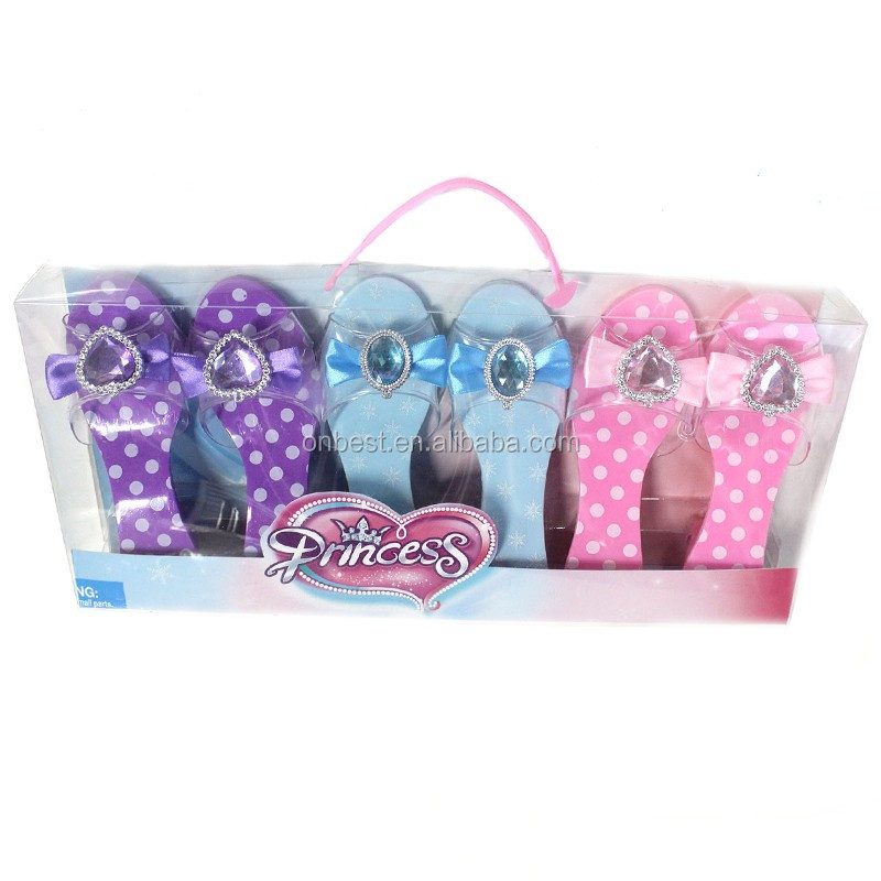 Factory price frozen party supplies China princess shoes with elagant gift box