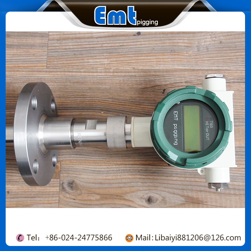 Hot sale flange connection digital display intrusive pig signaller