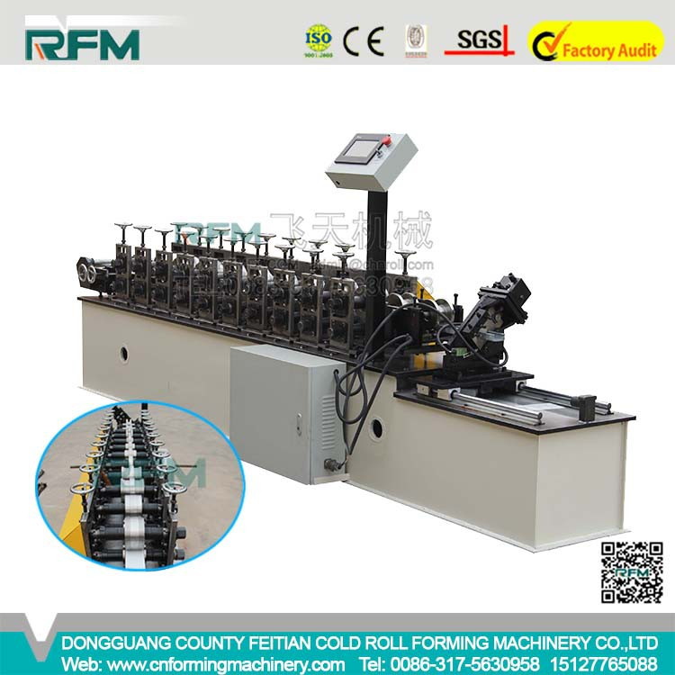 Partition Drywall Standing Frame Cold Rolled Steel C and <strong>U</strong> Shaped Channel Roll Forming Machine