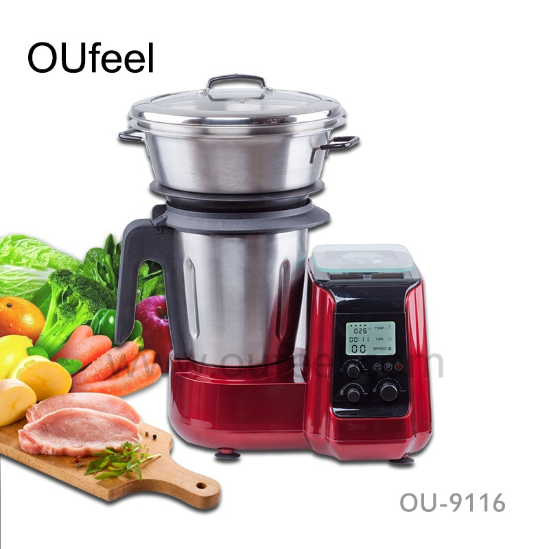 Multi-function Robot Thermo Food Processor Cooking Machine, Electric Soup Maker