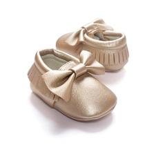 FC7200 europe style tassel shining sequins baby shoes soft sole toddler shoes with bowknot