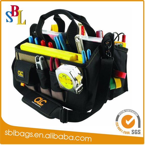 Practical customized Multi-function polyester 15 Pocket Tool Bag