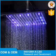 Cheap OEM 12 inch LED Light Rain Top Square Shower Head