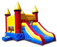 Mini inflatable bouncer combo, inflatable bouncy castle with slide