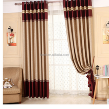 Japan Style Embossed Hotel Blackout Polyester Fabrics for Curtains