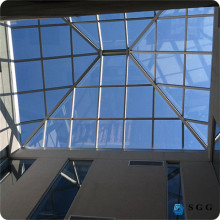 tempered laminated skylight glass/tempered glass roof